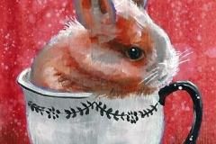 Gina Ketelaars Studio Ginart Acrylverf Konijn In Kopje 2