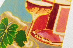 Gina Ketelaars Studio Ginart Acrylverf Wijn